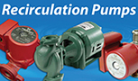OLIVE, ORANGE HOT WATER RECIRCULATING PUMPS