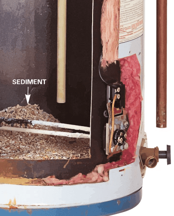 Sediment Inside A Water Heater